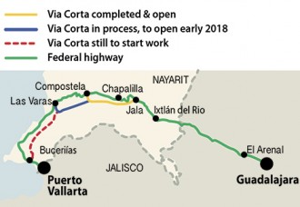 Traffic flowing on first stage of Puerto Vallarta's 'Via Corta'
