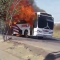 Chapala bus catches fire