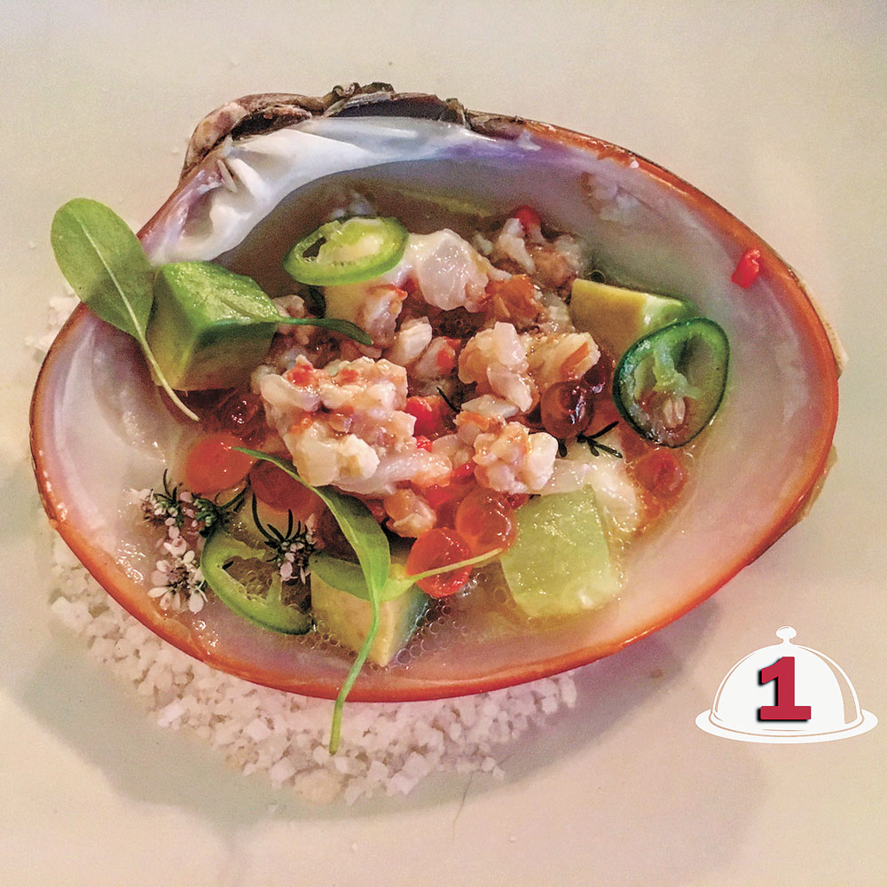 first course clam